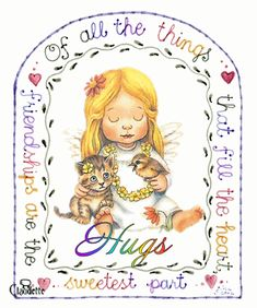 Friendship fills the heart. From my dear friend ~ Sharyn Cute Friendship Quotes, Genuine Friendship, Friend Friendship, Hug Pictures, Hug Images, Friend Poems, Happy Birthday Friend, Sending Hugs, Love Hug