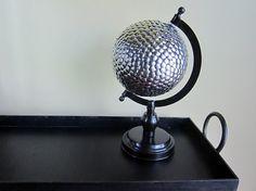 repurposed globe  | Thumbtack Globe : Got an old globe sitting around that doesn't ...