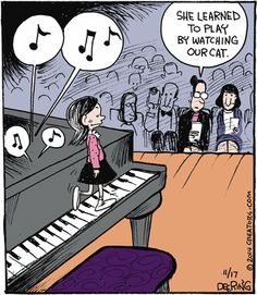 37 Trendy Music Cartoon The Piano Piano Memes, Piano Funny, Music Jokes, Music Humor, Piano Lessons, Music Lessons, Musician Memes, Mozart, Piano Teaching