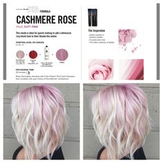 Pastel pink ombre with blonde bob and beach waves rose color