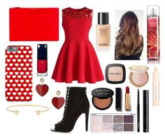"""""""Valentine's Day Look #13"""" by laughlikecrazy on Polyvore featuring Chicwish, River Island, Givenchy, Topshop, Clé de Peau Beauté, L'Oréal Paris, Too Faced Cosmetics, MAC Cosmetics, Chanel and NYX"""