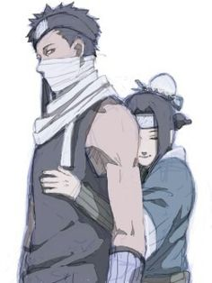 Haku y Zabuza. Naruto