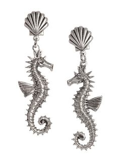 Whimsical Seahorse Earrings at PLASTICLAND
