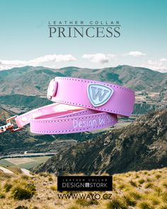 Leather collar and leash PRINCESS Leather Dog Collars, Collar And Leash, Stork, Handmade Leather, Princess, Design, Princesses