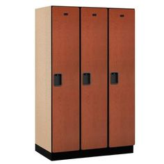 Constructed of industrial grade particleboard and covered with durable high pressure laminate, Salsbury 21000 series extra wide designer lockers offer ample space for personal storage needs and are ideal Home Lockers, Metal Lockers, Tall Cabinet Storage, Locker Storage, Kids Locker, Basketball Bedroom, Locker Designs, Personal Storage, Bedroom Crafts