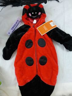 Infant Halloween Costume Bunting Ladybug Very Plush & Warm 6-9 Month New Tags #Target #Bunting