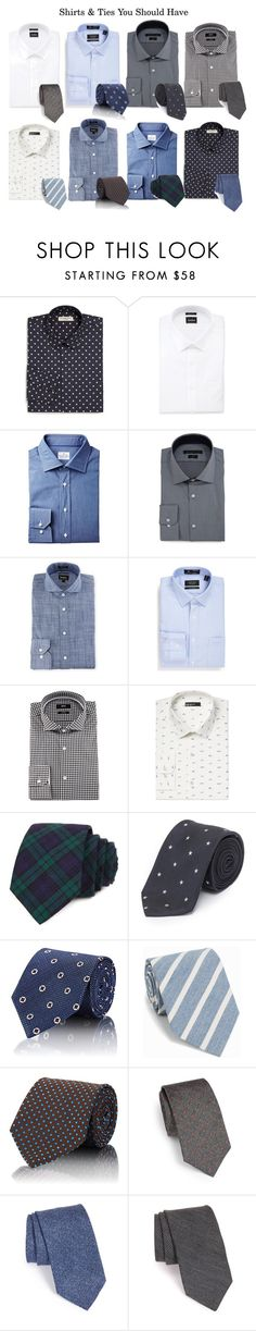 """Shirts & Ties you should have in your closet"" by allmusts on Polyvore featuring Burberry, Neiman Marcus, John Varvatos * U.S.A., Nordstrom, BOSS Hugo Boss, Bar III, Todd Snyder, Paul Smith, Ermenegildo Zegna and Amanda Christensen"