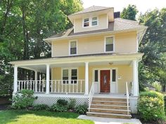 american foursquare houses on pinterest foursquare house four square and craftsman