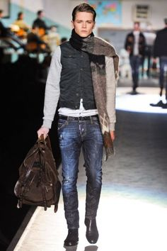 love that scarf!! the look should be relaxed a little more...