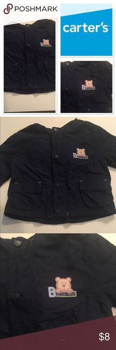 Carter's Infant Jacket Very cute navy bear jacket Carter's Jackets & Coats Raincoats