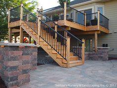 Deck & Patio ~ MN Backyard Ideas by Switzer's Nursery & Landscaping, via Flickr