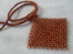 Cuadrado cobre esmaltado
