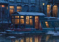 "'Evening Tea Time' 22"" x 16"" o.c.2015 by Evgeny Lushpin."