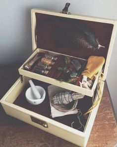 Hedge Witch Box by MoveWithTheMoon on Etsy Witch Alter, Witch Powers, Witch Shop, Traditional Witchcraft, Witch Aesthetic, Practical Magic, Diy Box, Book Of Shadows, Wiccan