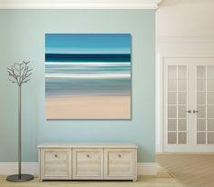 Nautical Wall Art Sea Stripes Ocean Waves Photo Canvas by klgphoto