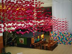 Andares shopping mall art Installation Guadalajara Jalisco birds