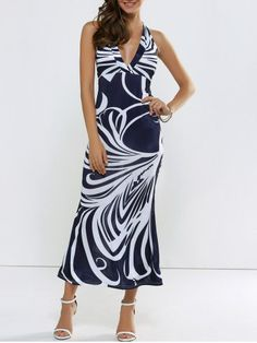 GET $50 NOW   Join RoseGal: Get YOUR $50 NOW!http://www.rosegal.com/maxi-dresses/printed-backless-halter-plung-maxi-691143.html?seid=6608409rg691143