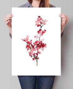 Cherry Blossom Watercolor Painting, CherryBlossom Art Print , Tree Print, Cherry Blossom Decor, Wall Art, Watercolor Fine Art Print (284)