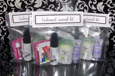 Bridesmaid survival kit: add a bandaid, couple of bobby pins, and a packet of Excedrin...you're good to go!