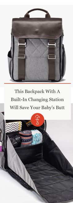This Clever Diaper Bag Has A Secret Changing Station That Folds Out via @FatherlyHQ