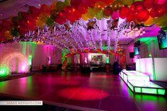 Club Themed Bat Mitzvah Club Themed Bat Mitzvah with Neon Balloon Canopy & Custom Lounge