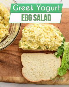 Egg Salad Recipes, Egg Salad Sandwich Recipe Healthy, Healthy Egg Salad, Best Egg Salad Recipe, Healthy Egg Recipes, Healthy Meal Prep, Healthy Snacks, Cooking Recipes, Egg Salad Recipe With Greek Yogurt