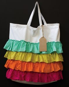 Loving this ruffled colorful bag - great for your tween - use it for school or everyday.