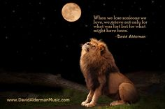 When we lose someone we love, we grieve not only for what was lost but for what might have been. ~David Alderman