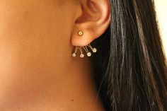 Stud Earring Jackets by chumlove on Etsy, $12.95