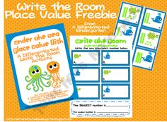 Place Value Fish Write The Room-A Kinesthetic Activity
