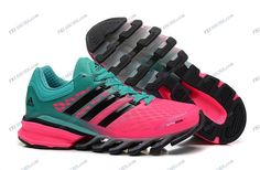 Adidas 2014 Springblade II Pink Green Women's Athletics Running shoes adidas shop