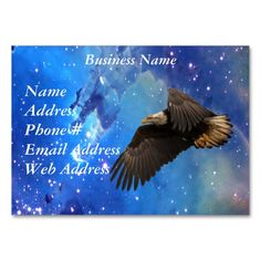 Eagle & Outer Space Business Cards