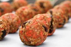 high protein snacks by Green Blender, carrot cake bites