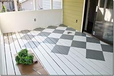 #DIY tutorial for painting wood floors!
