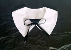 White Wednesday Addams Style Detachable Collar by GraveEndeavours