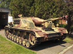 The StuG IV held by the Armoured Warfare Museum in Poznań...
