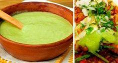 Una exquisita salsa para acompañar a unos buenos tacos, es esta salsa verde cremosacon una consistencia y color similar al guacamole, a diferencia de que ésta no lleva aguacate y tiene un sabor muy especial entre todas las salsas. Esta es una de las favoritas para darle sabor a los tacos al pastor. Ingredientes: 3…