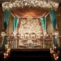 Traditional or contemporary, Indian weddings are never complete without the lavish use of flowers. Here are some ideas to beautify your wedding mandap decoration with flowers while keeping your budget, colour palette and style in check. Wedding Ceremony Ideas, Wedding Mandap, Wedding Stage Decorations, Wedding Themes, Wedding Bride, Aladdin Themed Wedding, Desi Wedding Decor, Wedding House, Engagement Decorations