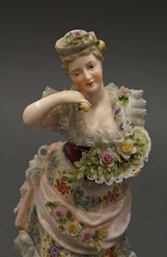 Antique Dresden Dolls | Antique Dresden Lace Volkstedt Figurines Figural Group from lucy53 on ...