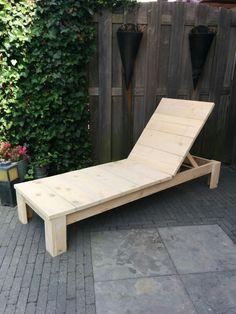 DIY wood long chair