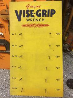 Very cool Vise-Grip display board