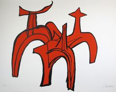 Alexander Calder: Cheval Rouge (Red Horse) sometimes known as Red Riders (1974) - OK, not British, but had to include it anyway!