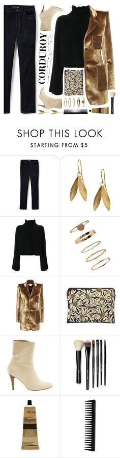"""corduroy contest (view description)"" by jesuisunlapin ❤ liked on Polyvore featuring Lands' End, Golden Goose, Forever 21, Vetements, Forest of Chintz, A.F. Vandevorst, Bobbi Brown Cosmetics, Aesop, GHD and velvet"