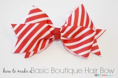 How To Make A Boutique Hair Bow - The Ribbon Retreat Blog