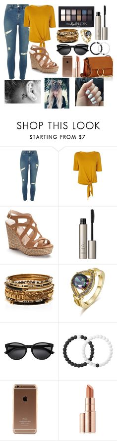 """Untitled #262"" by piperizabella ❤ liked on Polyvore featuring L.K.Bennett, Jennifer Lopez, Maybelline, Ilia, Amrita Singh, Lokai, Estée Lauder and Chloé"