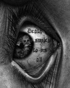 Death has to be easy because life is hard it will leave you physically & mentally scarred Creepy Drawings, Dark Art Drawings, Creepy Eyes, Totenkopf Tattoos, Eyes Artwork, Satanic Art, Demon Art, Skull Wallpaper, Occult Art