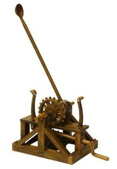 Catapult Leonardo da Vinci Assemble Set Assemble your own Catapult! The scientific genius of Leonardo da Vinci is brought to life through this articulated model. The invention that inspired this snap-