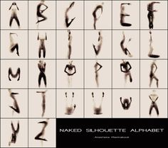 Naked Silhouette Alphabet