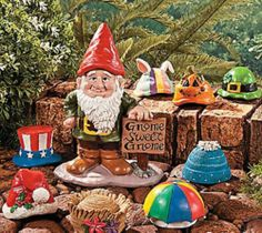 Seasonal Garden Gnome Greeter Set Statue Yard Art Home Decor NEW TVI1-63110