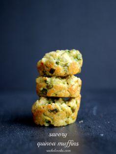 Savory Quinoa Muffins   RachelCooks.com